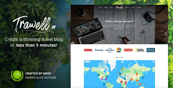 Trawell – WordPress journey theme