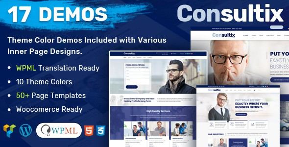 Consultix – Business Consulting WordPress Theme