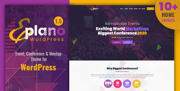 Eplano – Event and Conference WordPress Theme