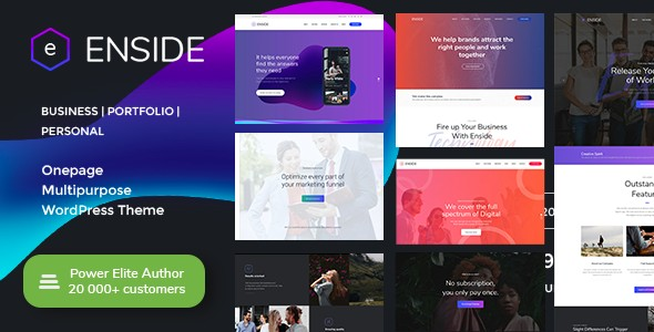 Enside – Multipurpose Onepage WordPress Theme