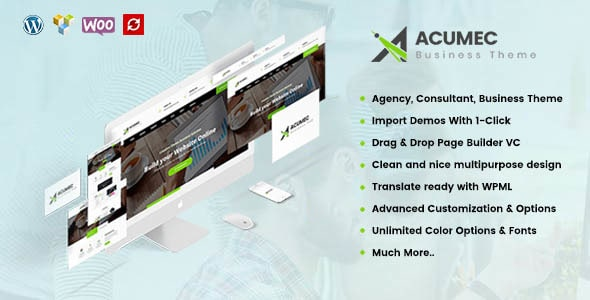 Acumec – Business Multipurpose WordPress Theme