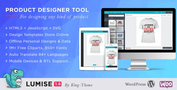 Lumise Product Designer | WooCommerce WordPress
