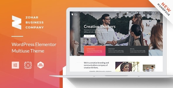 Zohar – Business Consulting Elementor WordPress Theme