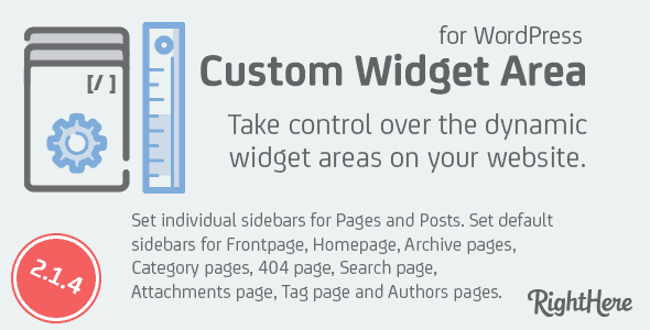 Custom Widget Areas for WordPress
