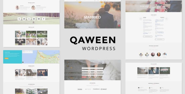 Qaween – Wedding WordPress Theme